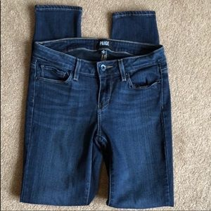 Size 26 Paige Verdugo Dark Wash Ankle Jeans EUC!
